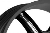 MILANNI® - BEL AIR 6 Gloss Black with Chrome Inserts Close-Up