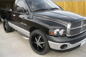 MILANNI® - BEL AIR 6 Gloss Black with Chrome Inserts on Dodge Ram 1500