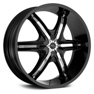 MILANNI® - BEL AIR 6 Gloss Black with Chrome Inserts