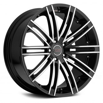 MILANNI® - KHAN Gloss Black with Mirror Machined Face