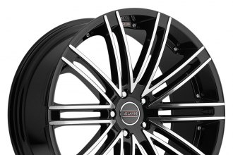 "MILANNI® - KHAN Gloss Black with Mirror Machined Face (18"" x 8.5"", +12 Offset, 5x114.3 Bolt Pattern, 73.1mm Hub)"