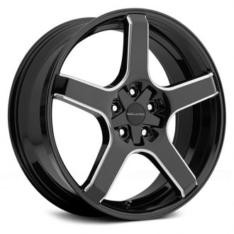 MILANNI® - VK-1 Gloss Black with Milled Spokes