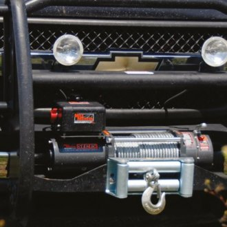 Winch Mounting System by MILE MARKER® on Chevy Truck