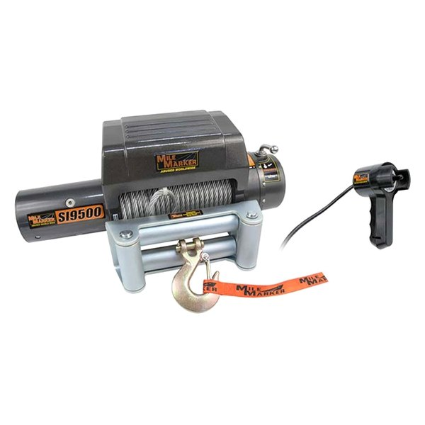 Mile Marker® - Electric Winch 9500 lbs 12V with Integrated Solenoid