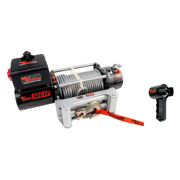 Mile Marker® - Electric Winch 12000 lbs with Discrete Solenoid