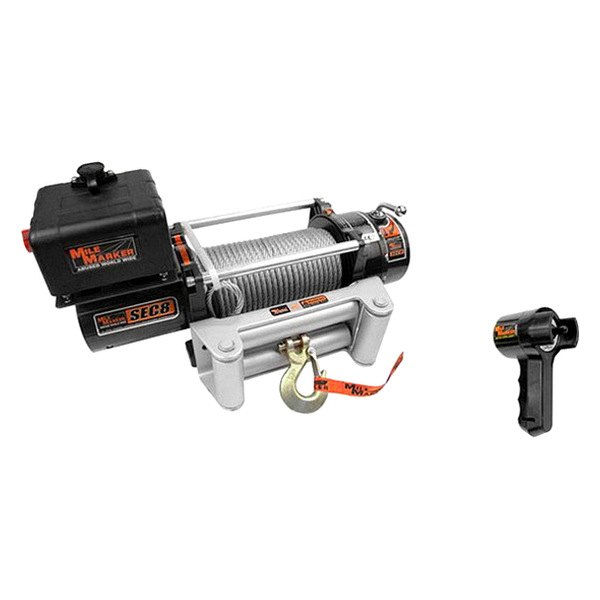 Mile Marker® - Electric Winch 8000 lbs 12V with Steel Cable