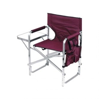 Mings Mark® - Director's Chair Folding Burgundy with Side Table and Pockets
