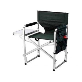 Mings Mark® - Director's Chair Folding Green with Side Table and Pockets