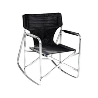 Mings Mark® - Rocking Director's Black Chair