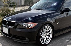 MIRO® - TYPE 111 Silver with Machined Face on BMW E90