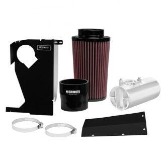 Mishimoto® - Performance Aluminum Silver Cold Air Intake System with Red Filter