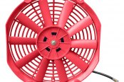 Mishimoto® - Red Slim Electric Fan