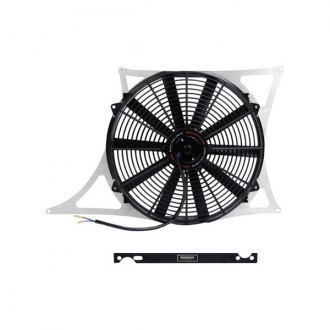 "Mishimoto® - 16"" Performance Silver Aluminum Slim Electric Fan with Shroud"