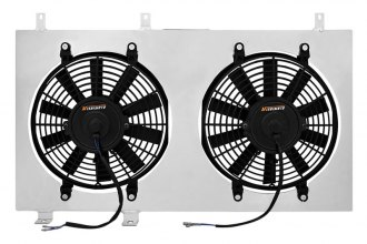 Mishimoto® - Performance Polished Electric Fan with Aluminum Shroud Kit