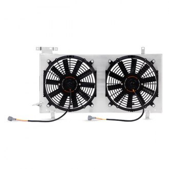 Mishimoto® - Slim Performance Polished Electric Fan with Aluminum Shroud Kit