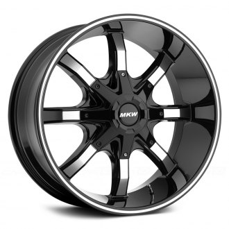 MKW OFF-ROAD® - M81 Gloss Black with Machined Face and Groove