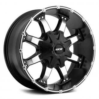 MKW OFF-ROAD® - M83 Satin Black with Machined Face and Groove