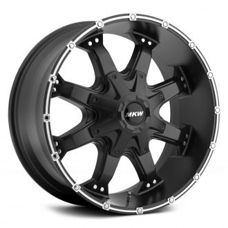 MKW OFF-ROAD® - M83 Satin Black with Machined Groove