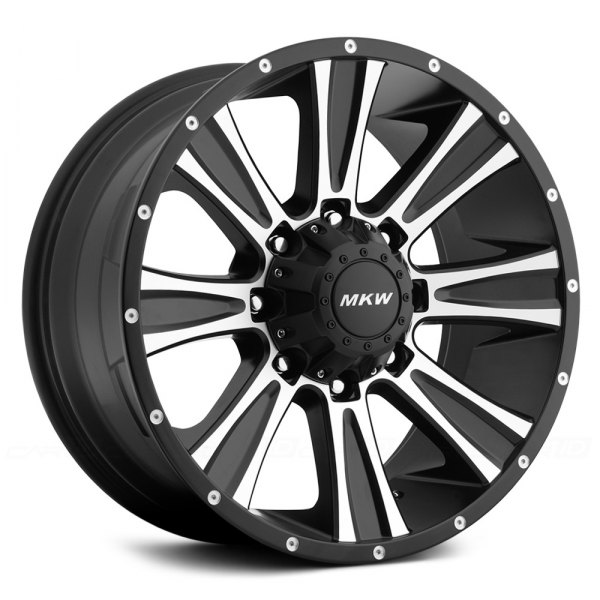 MKW OFF-ROAD® - M87 Satin Black with Machined Face