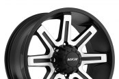 MKW OFF-ROAD® - M88 Satin Black with Machined Face