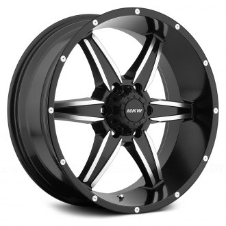 MKW OFF-ROAD® - M89 Satin Black with Machined Accents