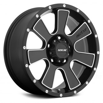 MKW OFF-ROAD® - M90 Satin Black with Machined Accents
