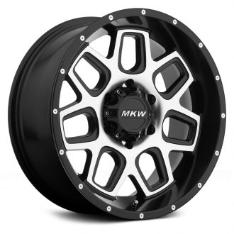 MKW OFF-ROAD® - M92 Satin Black with Machined Face