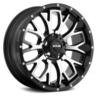 MKW OFF-ROAD® - M95 Satin Black with Machined Face