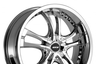 "MKW® - M101 Chrome (17"" x 7.5"", +40 Offset, 5x114.3 Bolt Pattern, 73mm Hub)"