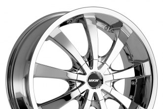 "MKW® - M102 Chrome (17"" x 7.5"", +40 Offset, 4x100 Bolt Pattern, 73mm Hub)"