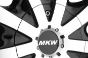 MKW® - M102 Gloss Black with Machined Face Close-Up