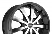 "MKW® - M102 Gloss Black with Machined Face (16"" x 7"", +40 Offset, 5x100 Bolt Pattern, 73mm Hub)"