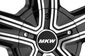 MKW® - M103 Gloss Black with Machined Face Close-Up