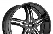 "MKW® - M105 Gloss Black with Machined Face (18"" x 7.5"", +40 Offset, 5x112 Bolt Pattern, 73mm Hub)"