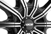 MKW® - M111 Gloss Black with Machined Face Close-Up