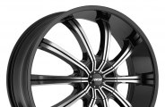 "MKW® - M111 Gloss Black with Machined Face (17"" x 7.5"", +40 Offset, 4x100 Bolt Pattern, 73mm Hub)"