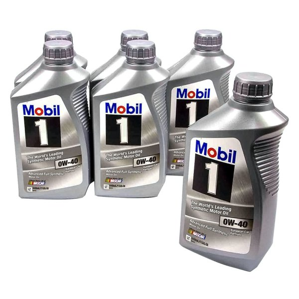Mobil 1® - Advanced Full Synthetic™ SAE 0W-40 Synthetic 1 Quart Motor Oil Case