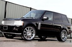 Modular Society KF1 Chrome on Land Rover Range Rover