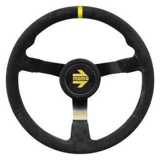 MOMO® - 3-Spoke MOD.N35 Series Steering Wheel with Yellow Center Mark