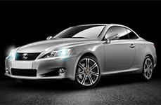 Momo Next Anthracite with Machined Face on Lexus