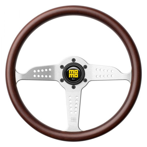MOMO® - Grand Prix Series Steering Wheel with Silver Spokes