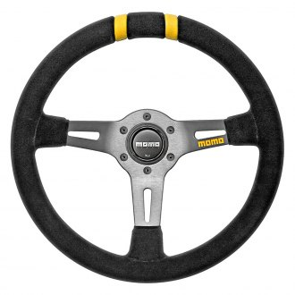 MOMO® - MOD.DRIFT Series Steering Wheel, Black Suede