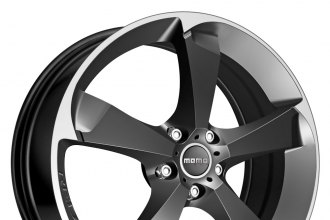 "MOMO® - DRONE Anthracite with Machined Bezel (17"" x 7.5"", +42 Offset, 5x114.3 Bolt Pattern, 73mm Hub)"