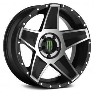 MONSTER ENERGY® - 648MB Gloss Black with Mirror Machined Face