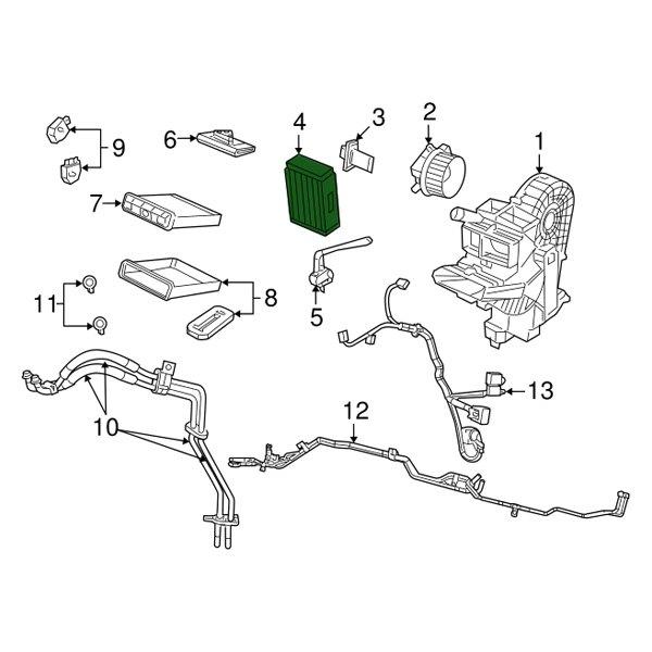 Genuine Mopar Evaporator Core 68427763AA