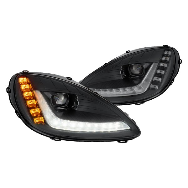 Morimoto® - XB™ Black DRL Bar Projector LED Headlights with Sequential Turn Signal