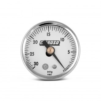 Moroso® - In-Dash White Vacuum Gauge
