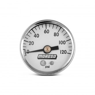 Moroso® - In-Dash White Oil Pressure Gauge