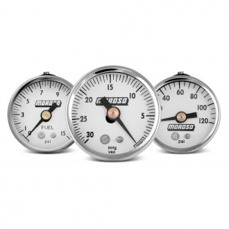 Moroso® - In-Dash White Gauges