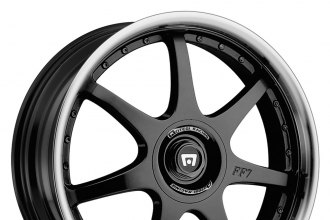 "MOTEGI RACING® - FF7 Gloss Black with Clear Coat and Polished Lip (16"" x 7"", +42 Offset, 5x114.3 Bolt Pattern, 72.6mm Hub)"